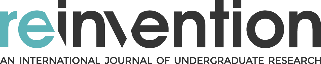 Reinvention an International Journal of Undergraduate Research